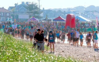 Join athletes at the Falmouth Sprint Triathlon for the most fun you'll have all summer.
