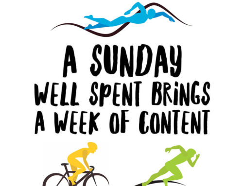 "Tip #1 for a terrific triathlon season: the ""Sunday Starter."""